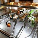 Besser als bei den meisten Buffets: das Sushi.