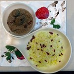 Fisinjan Plov - Minced Lamb & Beef with Walnuts & Pomegranate with Pilaw rice
