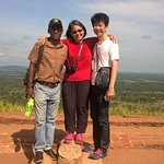 At the summit of Sigiriya Rock with Mr. Chanaka