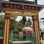The main entrance to the Ganesh Tok Temple