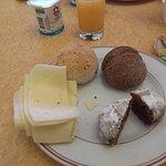 alguns itens do pequeno almoço