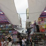 Narrow space between stalls