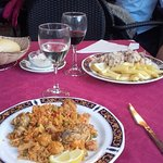Paella and Fried Squid