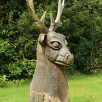 meet this deer chap in the garden