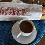 cheapest breakfast, $5.00 sandwich, $3.00 coffee