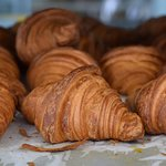 Hand rolled croissants fresh out of the oven. Perfect breakfast on holiday! :-)