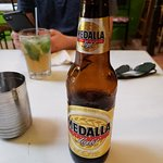 Great mojitos and local beer. I had the mofongo pernil and it was fantastic.