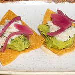crab and avocado tostadas