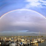 Double rainbow over the marina
