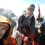 Illiniza Norte (5126 m) summit, Illiniza Sur (5248 m) in the back.