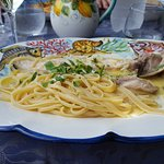 Sea Bass in a lemon sauce with Linguine