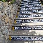 Majolica tiled stairs