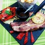 Smoked pork steak