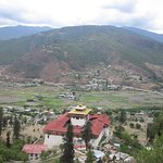 Panoramic view of Paro from the grounds of The National Museum of