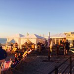 plaża w Niechorzu Mojito Beach Bar zachód słońca