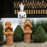 A rather cute line of little Buddhas. Very unusual for me.