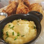 fried chicken & mashed potatoes