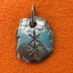 Talismano runico per la protezione in argento 925 nickel free