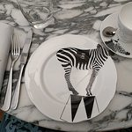 Funny plates with different themes, I got a Zebra!