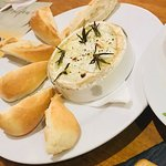 Baked Camembert Cheese with rosemary and garlic