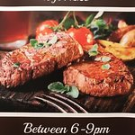 Saturday Steak night - 2 Celtic Pride steaks with chips and side salad for just £20