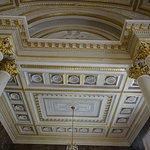 Salle de réception, plafond à caisson