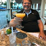 From our dinner at Citrus. My husband and his passionfruit margarita. The food here was excellen