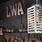 Industrial lighting with an ambient glow of Edison Bulbs
