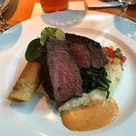 Bison with jalapeno grits