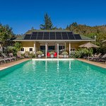 The mineral spring fed pool at Meadowlark Country House and Resort