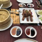 Peking duck from the ST chef from Beijing (as good as we had in Beijing, a more generous portion