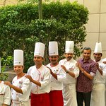 With the Chef Brigade...............1