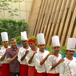 With the Chef Brigade...............2