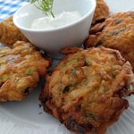 Local veggie fritters