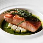Elegant food with fresh and seasonal ingredients