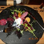 Beetroot Salad with whipped goat cheese