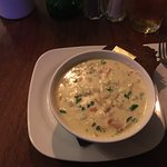 The fish chowder. Excellent and fresh.