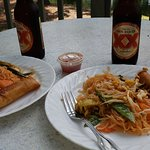 Pad Thai and Spring rolls