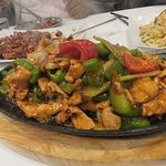 Sizzling Chicken with hot Peppers