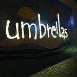 Umbrellas sign