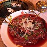 BBQ coréen mariné boeuf
