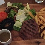 Fillet steak medium rare! Perfectly cooked!