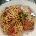 Salmon and pasta! So delicious!