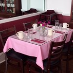 Ample seating and a delicious breakfast served daily