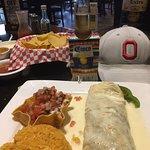 my steak burrito. Very good.