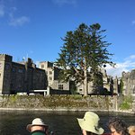 lovely Ahsford Castle; River Cruis tour. look at the blue sky.