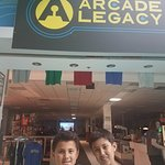 The boys out front of Arcade Legacy.
