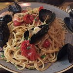 Seafood pasta!