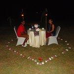Honeymoon Candle light dinner
