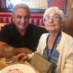 The Amazing owner who we've known for years, made Mom's 95th birthday special by visiting our ta
